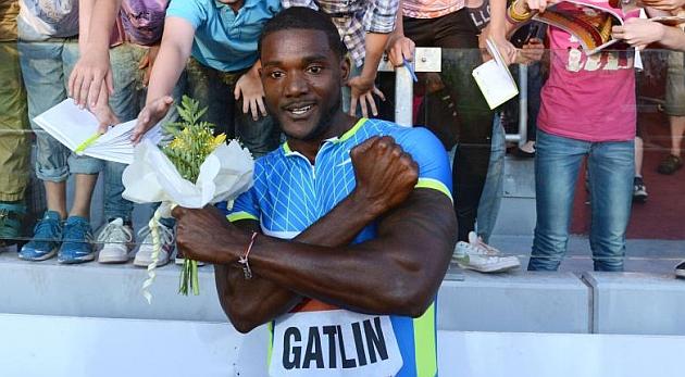Gatlin bate su marca mundial del a�o en 100 metros con 9.86