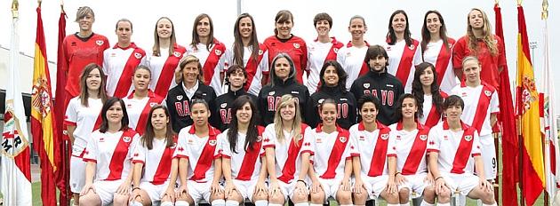 Plantilla del� Rayo Vallecano femenino de la temporada 2013/14.