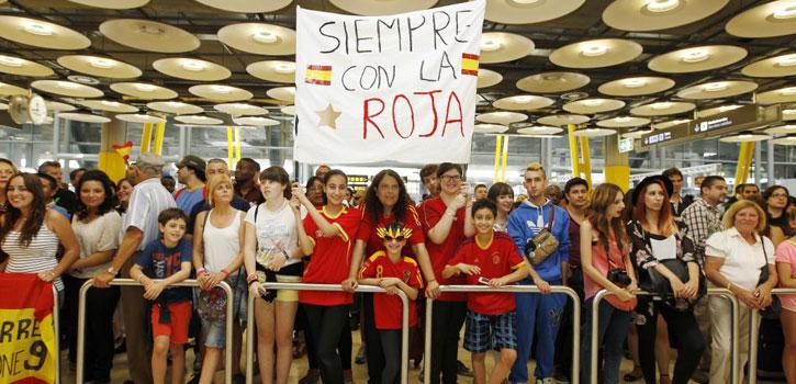 Los aficionados se llevaron la última decepción en Barajas