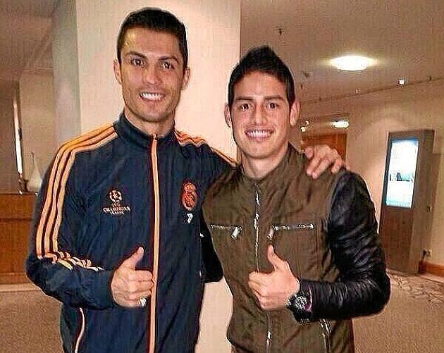 James Rodríguez, Madrid fan and Ronaldo's buddy