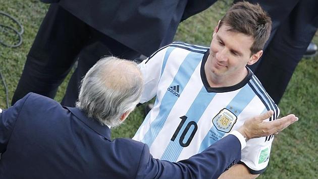 """Messi, tras su cuarto MVP en cuatro partidos: """"Pensé en jugármela, pero vi al Fideo"""""""