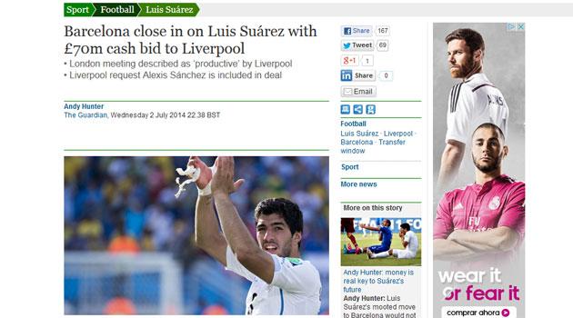 El fichaje de Luis Suárez, cerca de cerrarse por 88 millones de euros