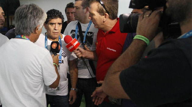 Maradona: FIFA and ref gave Brazil licence to kick