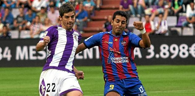 Víctor Pérez en un partido contra el Levante