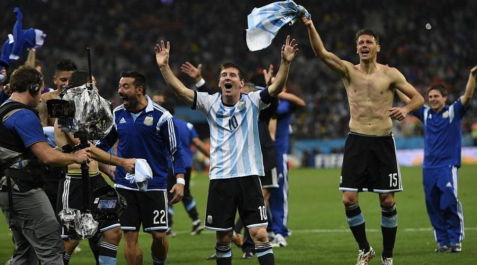 Messi celebró a lo grande su primera final de un Mundial