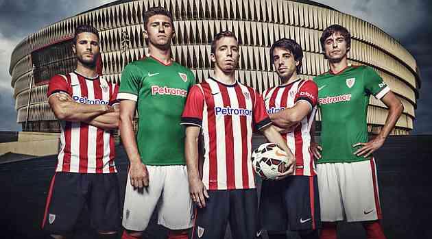 Jugadores del Athletic Club posando con las nuevas equipacionesNike c628788afcaae
