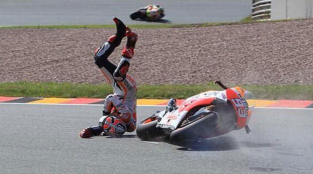 Resultado de imagen para foto de caida de Marquez