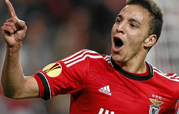 Rodrigo Moreno en el Benfica.