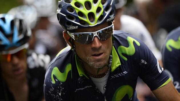 Valverde, en la etapa de este lunes. / AFP