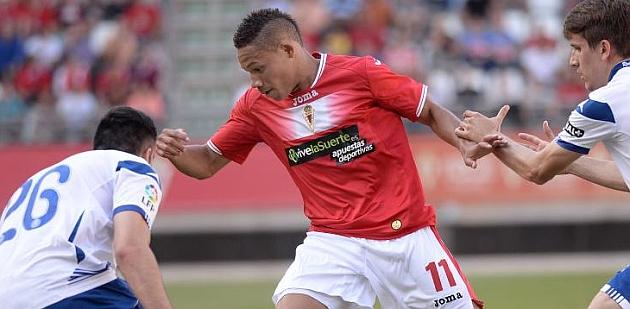 Welinton Silva en un partido de la pasada temporada contra el Zaragoza