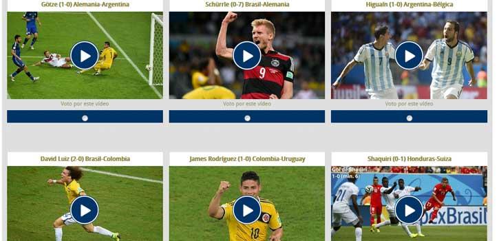 Elige el mejor gol del Mundial