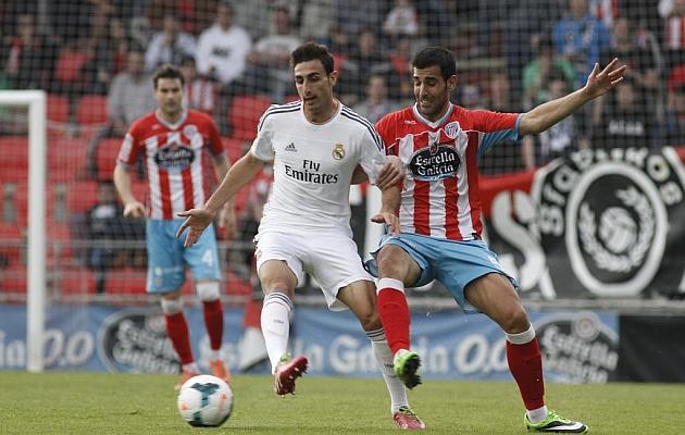 José Rodríguez en un Lugo-Real Madrid Castilla de la pasada campaña