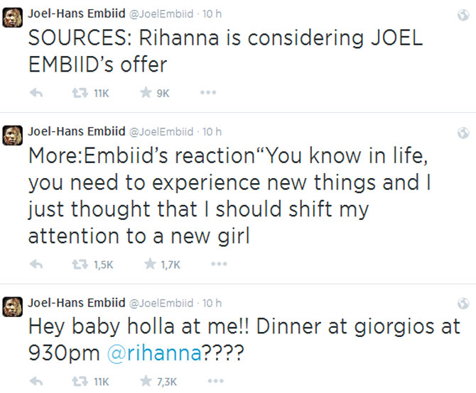 El 'Emperador Tuitero' de la NBA cambia a Kim Kardashian por Rihanna