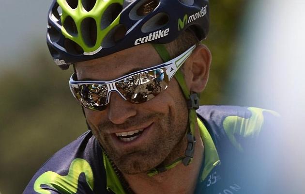José Joaquín Rojas (Movistar) en el transcurso de una etapa del Tour de Francia