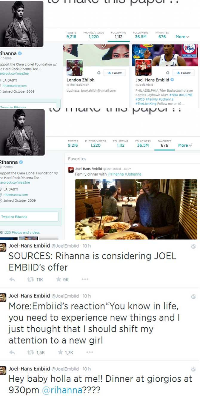 Rihanna le sigue el flirteo a Embiid tras fracasar en su cortejo a Kim Kardashian: ¿Llega el amor?