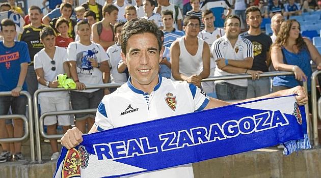 Pedro Sánchez, durante su presentación como jugador del Zaragoza / Toni Galán (Marca)