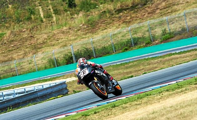 Márquez en los test de Brno previo al parón de vacaciones / REPSOL MEDIA