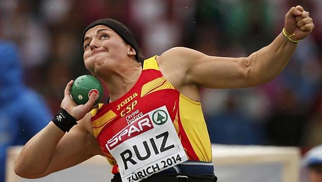 Úrsula Ruiz, en plena competición
