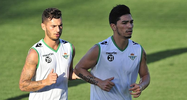 Sergio, junto a Lolo Reyes en un entrenamiento | Foto: Kiko Hurtado