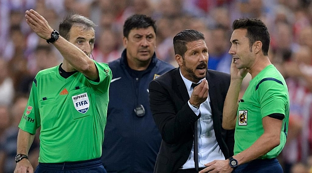 Simeone facing La Liga rap for fourth official 'slap'