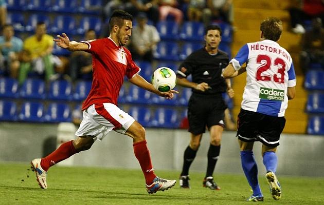 Toribio efectúa un disparo durante un partido de Copa de la pasada temporada.