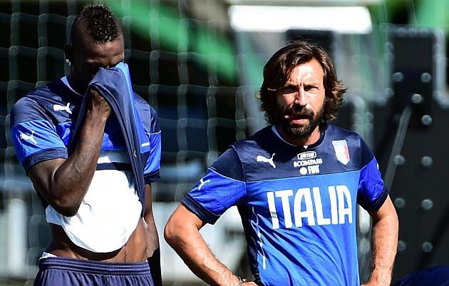 Balotelli y Pirlo, fuera de la lista 'azzurra'