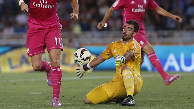 Zubikarai tapa el disparo de Bale. Foto: Pablo García