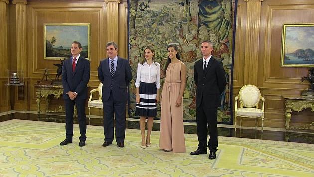 SM la reina Letizia recibe a Carolina Marín