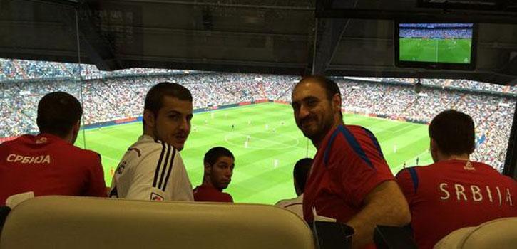 Serbia 'prepara' la final en el Bernabéu