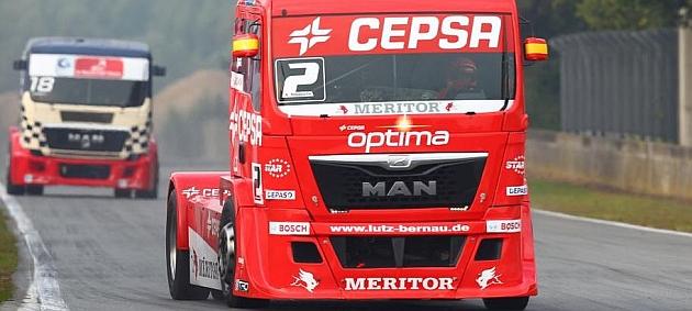 Antonio Albacete mantiene el liderato del Europeo de camiones