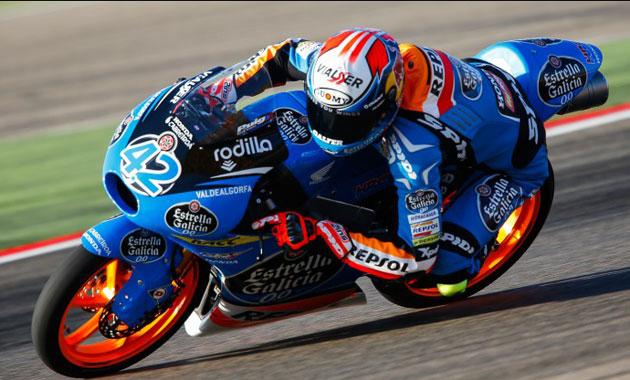 Álex Rins rodando en Aragón en los libres / MotoGP.com