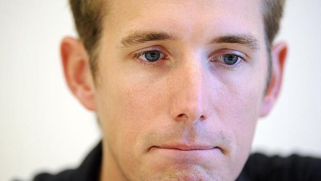Andy Schleck, en su comparecencia ante los medios. / AFP