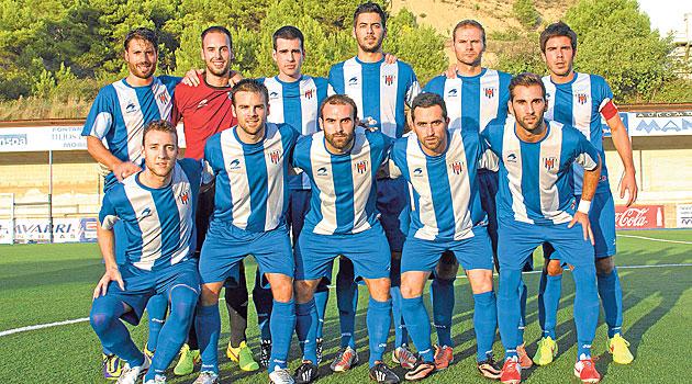 Los futbolistas del Izarra, antes de iniciarse un encuentro de esta temporada / Foto: Deportivo Izarra