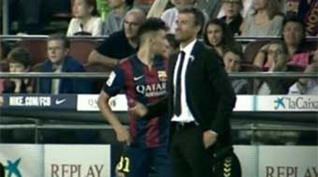 Luis Enrique quiso cambiar a Messi y al final sustituyó a Neymar