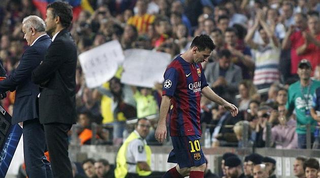 Luis Enrique convenció a Messi y el argentino fue sustituido