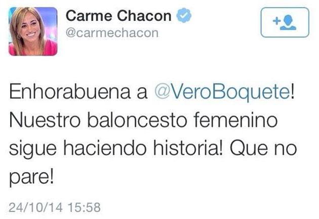 Carme Chacón se confunde de balón