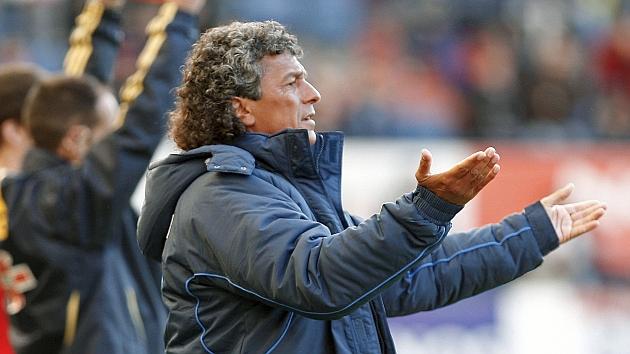 Gorosito durante su etapa como entrenador del Xerez. Foto: Cristina Abadia