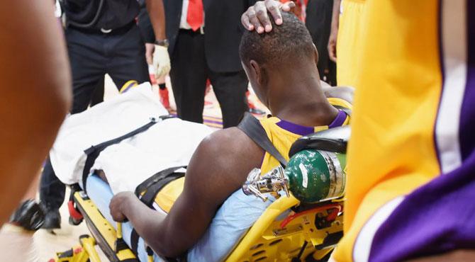 Drama en los Lakers con la grave lesión de su gran esperanza