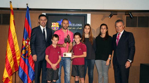 Bartomeu a Mascherano: Es un honor para el Barça tener un jugador como tú