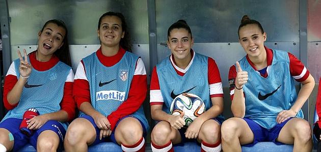 Nicole Regnier en su debut con el Atlético de Madrid / Pablo García