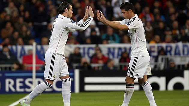 James denies tension over return of great player Bale