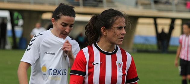 Eli Ibarra durante el partido ante el Fundación Albacete / Athletic Club
