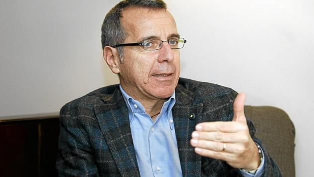 El nutricionista Francesco Avaldi durante su encuentro con MARCA.FOTO: ANGEL RIVERO