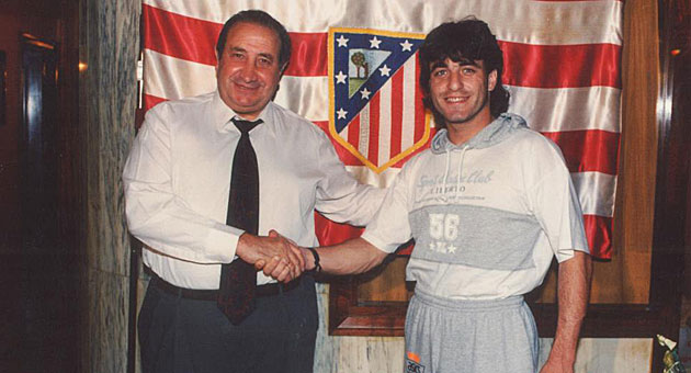 Jesús Gil y Paulo Futre posando a los medios / Archivo MARCA