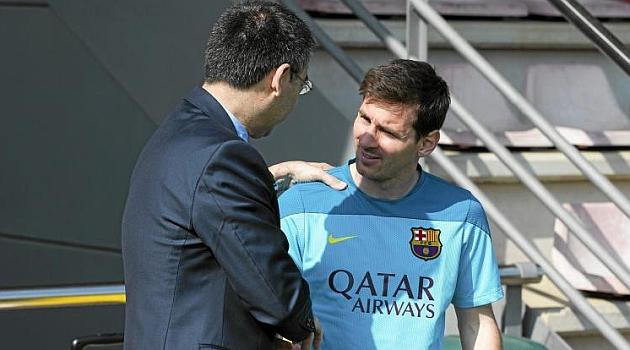 Bartomeu: Me consta que Messi es feliz en el Barça