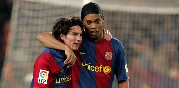We asked Rijkaard to put Messi in the first team