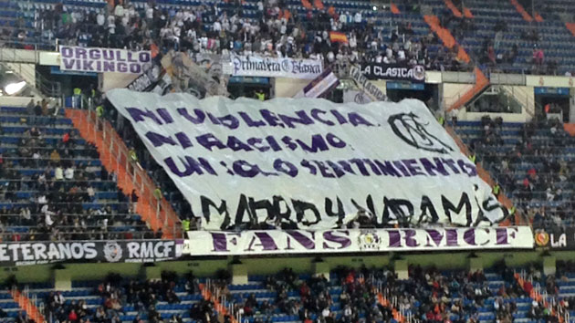 No violence or racism; Madrid and nothing else