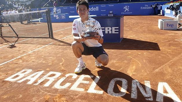 Kei Nishikori, vencedor de la pasada edición del Barcelona Open Banc Sabadell Trofeo Conde de Godó. Foto: Francesc Adelantado