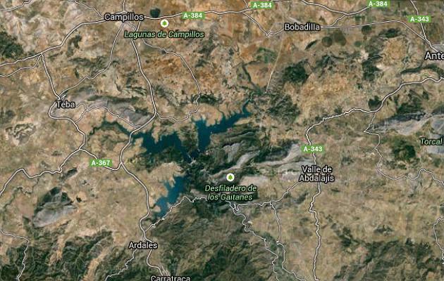 La garganta y el desfiladero de los Gaitanes en Google Map.