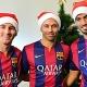 Messi, Mascherano y Luis Su�rez felicitan la Navidad